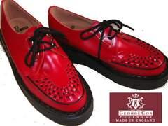 ジョージコックス英国イギリス製ラバーソール3588レッド赤uk8