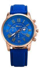 ネット最安値600円★休日お洒落に腕時計ブルー初期不良保証