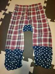 赤チェック ズボン 95cm