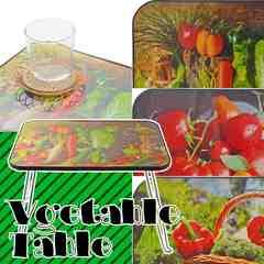 ヘルシー ミニテーブル 新鮮お野菜 折りたたみ テーブル
