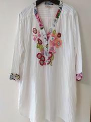 豪華刺繍上質コットン長袖ワンピース 定形外250 9〜15号