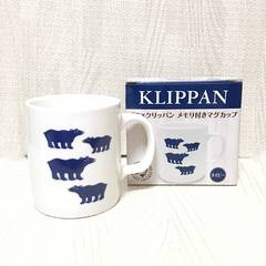 【NEW/非売品】北欧しろくま柄マグカップ/KLIPPAN/白×紺/磁器