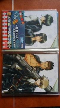 1番くじ 銀魂 E賞 ポストカード2枚&ミニクリアファイル 2枚 �A