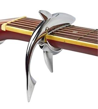 送料無料 サメ 金属 カポ  カポタスト ギター