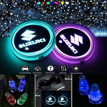 LED 車内 カップホルダー (スズキ)