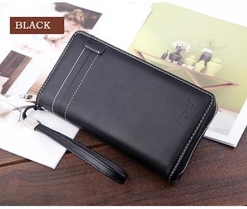 長財布 財布 レザー  革 札入れ 小銭入れ カード入れ ブラック