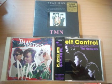 TM NETWORK CD3枚セット★STAR BOX DRESS SELF CONTROL TMN
