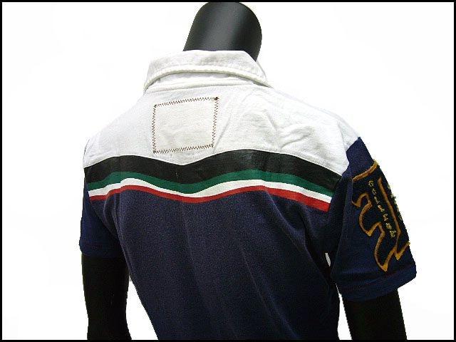 アメカジマリン風ポロシャツ ネイビー M[091-1205] < 男性ファッションの