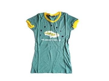新品 libidoroul イラスト ロゴ Tシャツ 半袖 車 1 緑