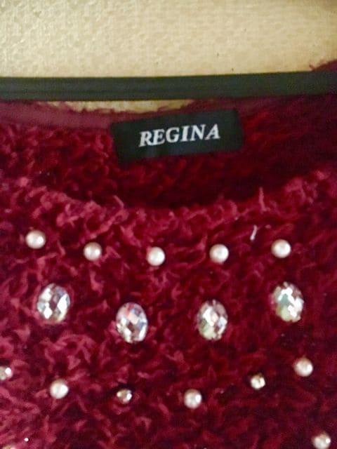 【REGINA】フワ軽◆ストーン付◆素敵春ニット < 女性ファッションの