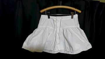 H&M  白  ふんわり可愛い コットン ミニスカート 夏