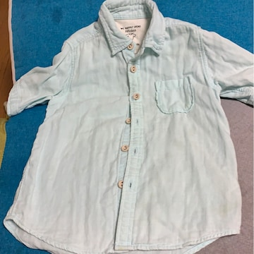 水色★コットンシャツ★綿100% サイズ110