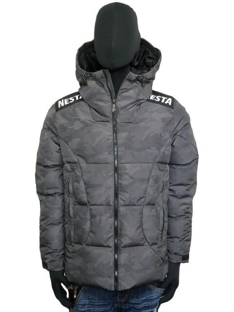 新品193NB1703ネスタ カモ柄撥水スケーター中綿ジャケット黒M  < ブランドの