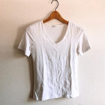 ◆marble ink/マーブルインク◆シンプルVネックTシャツ★ホワイトM*定番アイテム♪