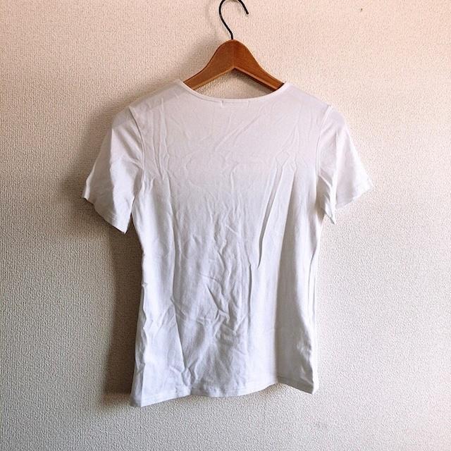 ◆marble ink/マーブルインク◆シンプルVネックTシャツ★ホワイトM*定番アイテム♪ < ブランドの