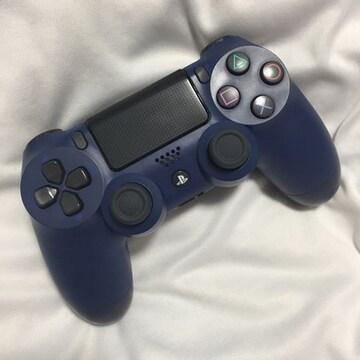 デュアルショク4 PS4コントローラー ミッドナイトブルー