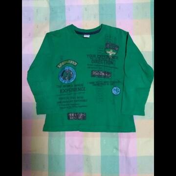 男の子 MANPHOTO 140�p長袖Tシャツ グリーン