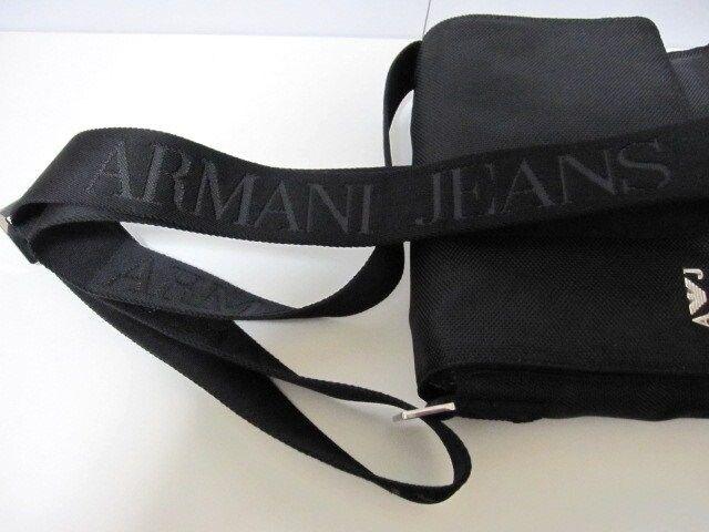 □ARMANI JEANS/アルマーニジーンズ ショルダーバッグ/ブラック☆新品 < ブランドの