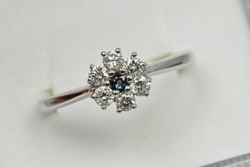 綺麗なアレキサンドライト ダイヤモンドリング 12号 指輪
