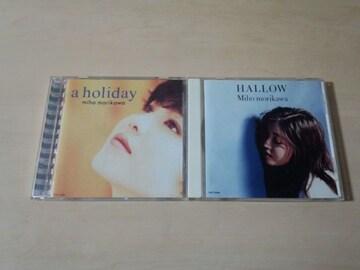 森川美穂CD「HALLOW」「ホリデイ」2枚セット★