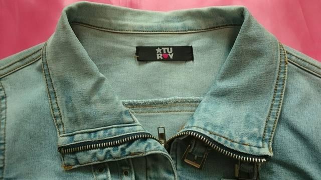 ライトブルー薄手ストレッチライダースデニムジャケットGジャン < 女性ファッションの
