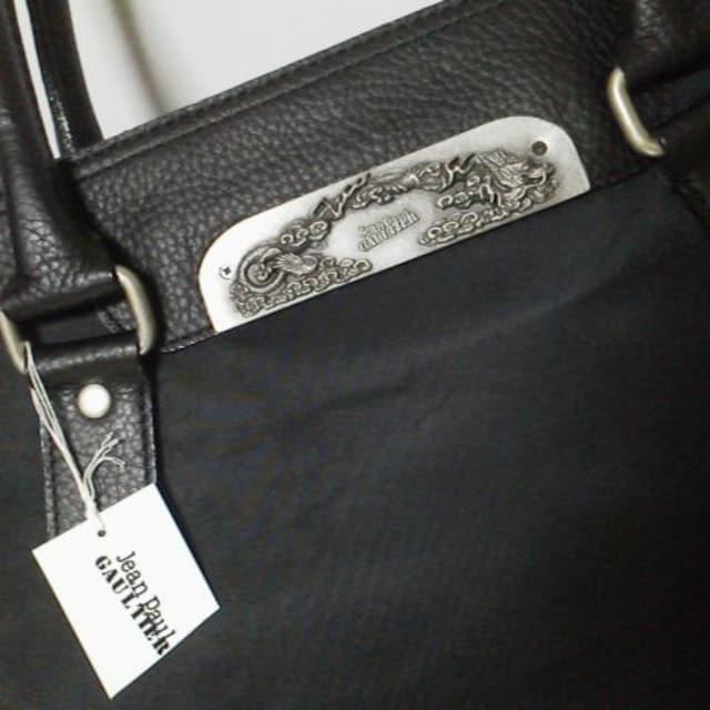 激レア★ゴルチエ【限定】ドラゴンプレートシリーズトートbag★新品 黒 < ブランドの