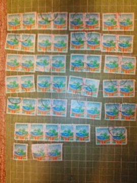 韓国W20切手×50枚(キャンペーン切手両手・海・山)♪