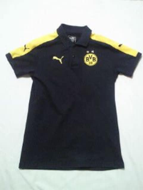 プーマ ドイツ サッカー ドルトムント デザイン ポロシャツ ブラック イエロー Sサイズ < 男性ファッションの