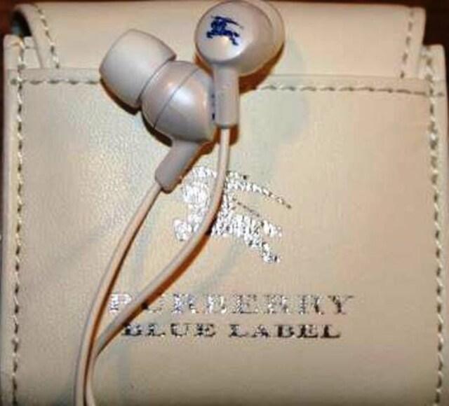 特別顧客限定★BURBERRY BLUE LABEL★ノベルティイヤフォン  < ブランドの