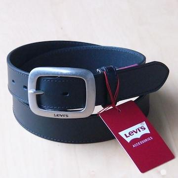 LEVI'S リーバイス 牛革 ベルト 35mm 6491 ブラック 送料