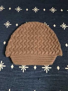 美品 バナナリパブリック ニット帽 帽子 レディース ツバ付き