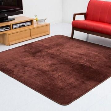 フランネルラグ 極細繊維仕様(185×185cm ) ブラウン