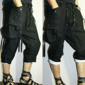新品KMRII Linen Cargo Half Pants 1
