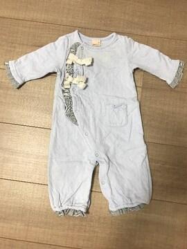 petitmainベビ服2way50〜70女の子リボン新生児〜出産予定の方