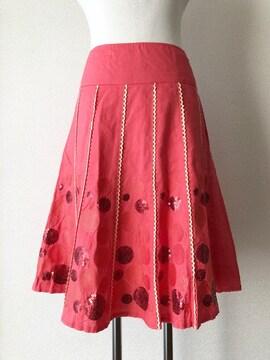 ☆新品☆[bittoko]★ピンクカラー・膝丈スカート・size[38]★