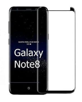 激安、Galaxy Note8 ギャラクシー 強化ガラスフィルム 黒 エッジ