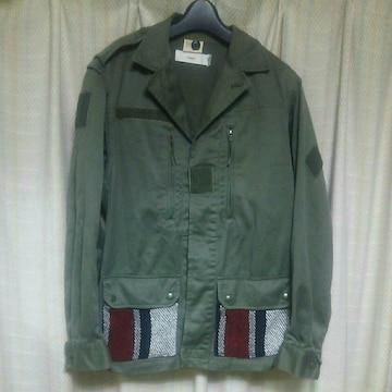 リメイク系ミリタリージャケットMサイズカーキグリーン緑アメカジ古着系古着屋個性的メンズ