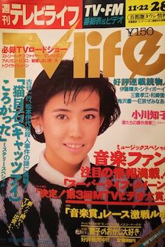 松本伊代・中森明菜【週刊テレビライフ】1986年 通巻190号
