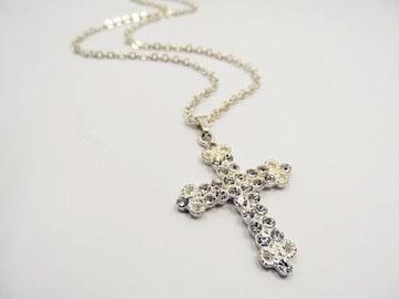 新品ゴスロリ姫系アンティーク調ストーン十字架クロスネックレス