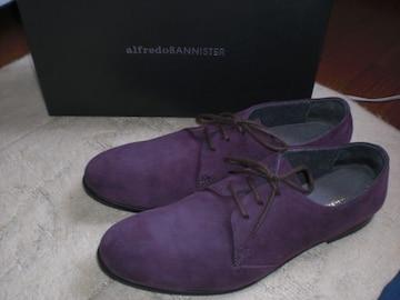 アルフレッドバニスター alfredoBANNISTER 限定プレーントゥスエードシューズ靴