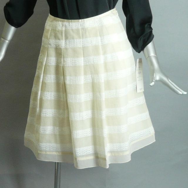【新品・13号】タックフレアー・台形スカート・送料180円 < 女性ファッションの