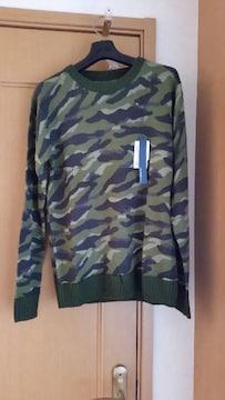 ¥8,856 J.FERRY ジェイフェリー カモフラ柄 ニット セーター