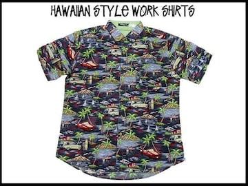 レトロ オールドスクール アロハ新品 ハワイアン ガラ ストリート USA S/S stuss(XL)