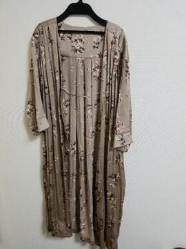 レプシム花柄羽織り美品