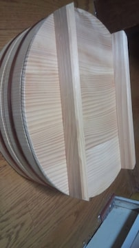 新品 木製 寿司桶35Cm 蓋付