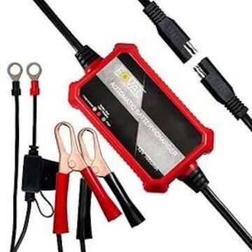 Foval 自動式バイクバッテリー充電器 電池充電器 バッテリー充電