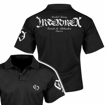送料無料 メンズ オラオラ ギャング バイカー ヤクザ 半袖 ポロシャツ 黒 白 5L