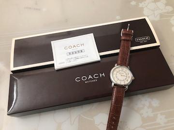 S104 新品★コーチ腕時計 革ベルト 茶 50th Anv. T&M to H