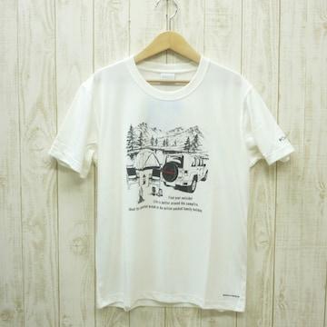 即決☆コロンビア特価CAMP半袖TシャツWHT/XLサイズ (XXL 3L ) リラックスフィット