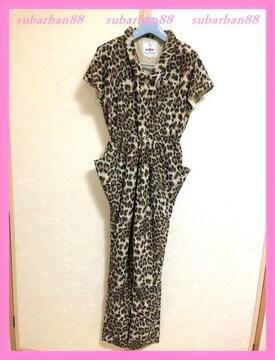 ☆WC☆超美品♪完売ヒョウ柄サルエルオールインワン☆